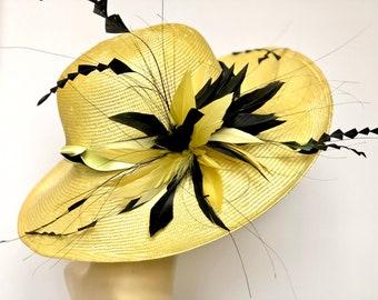 Kentucky Derby Yellow Hat Church Hat