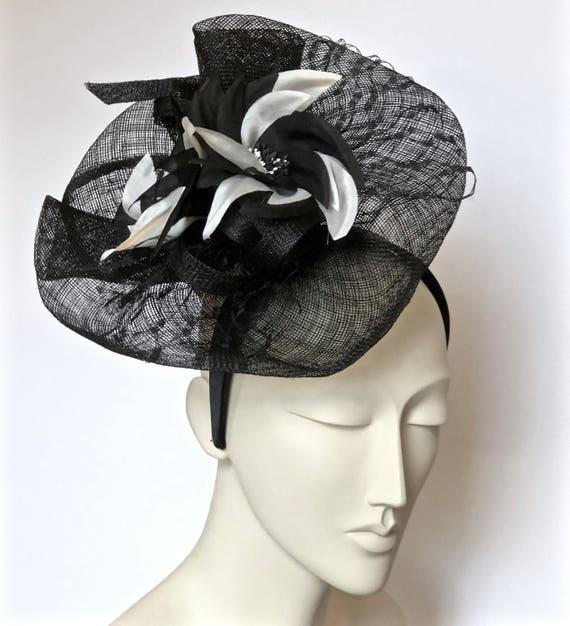 ca1932d5788 Kentucky Derby Black Fascinator Black Wedding Hat Black