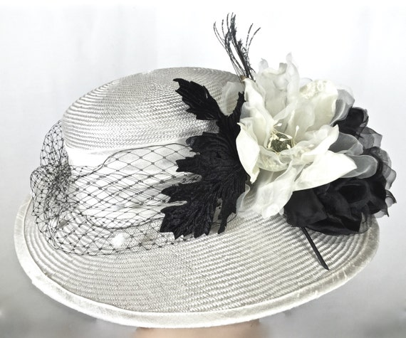 Wide Brim Off White Kentucky Derby Hat Women s Hat with  a26bc2f5ee8a