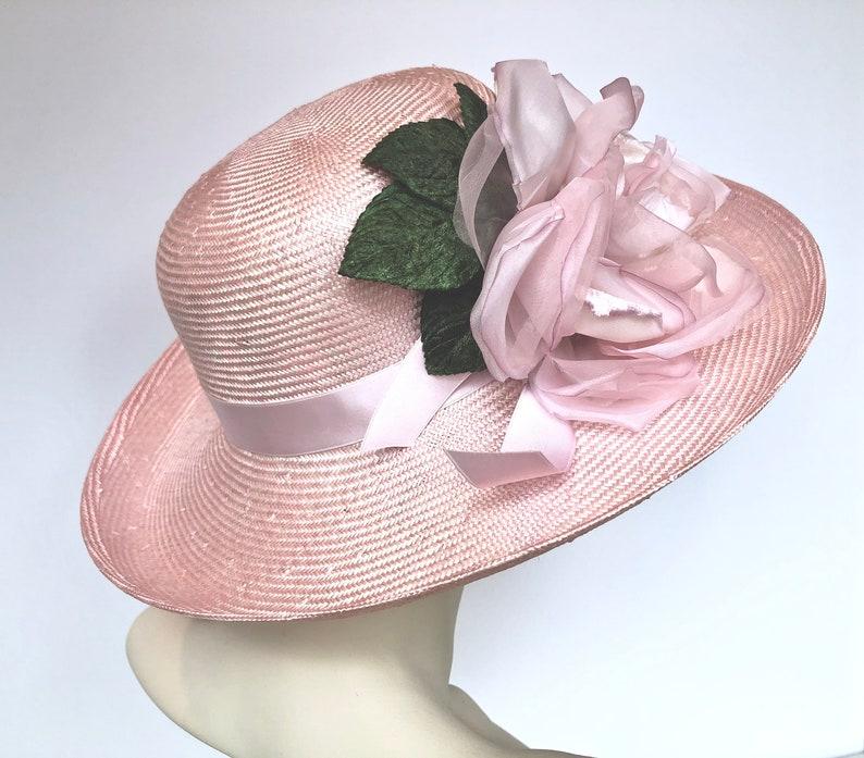 f3de44a984643 Kentucky Derby Hat Wide Brim Hat Church Wedding Hat Derby
