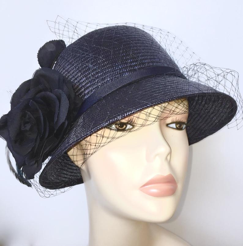 Kentucky Derby Hat Summer Cloche Hat Church Wedding Hat  e2cb0bb0cf1