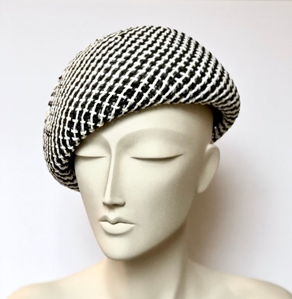 dd5f76ba994f6 Straw Black White Women s Beret Cap Beret Hats for Women