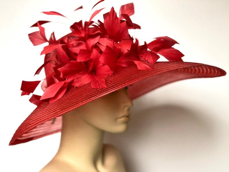 4dda36f4 Kentucky Derby Hat Wide Brim Hat Church Wedding Hat Derby   Etsy