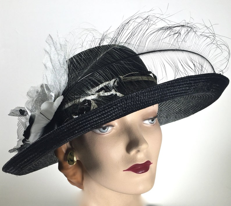 3a28f7b7e4b97 Kentucky Derby Hat Wide Brim Hat Derby Hats for Women Derby
