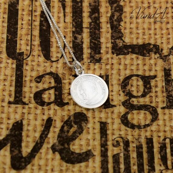 Sterlingsilber Papst Johannes Paul Ii Medaille Etsy