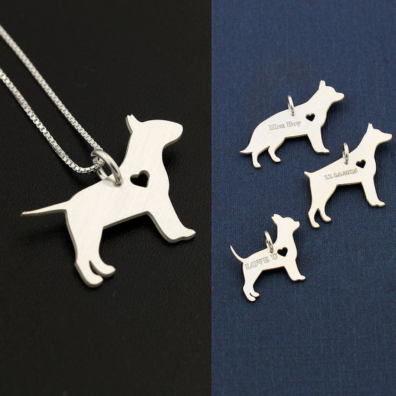 """Charm 18/"""" Italian Box Chain Sterling Silver Poodle Dog Pendant"""
