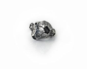 Sterling Silver Barnacle Ring, Crustacea Cirripedia Five