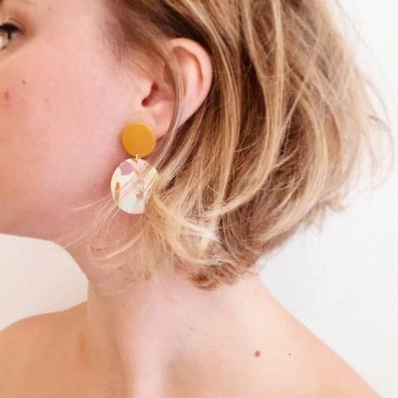 Boucles d'oreilles TERRAZZO