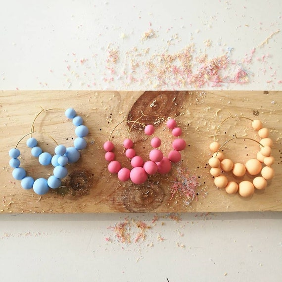Maxi Créoles perles
