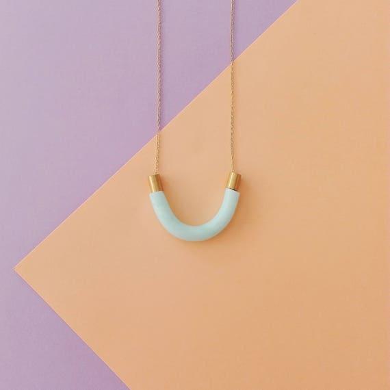 Collier U quartz bleu