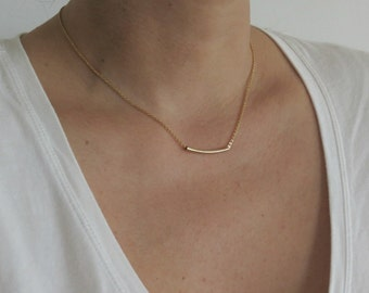 Gold Bar Necklace, Skinny Bar Necklace, Gold Pendant Necklace, Delicate Bar Necklace, Minimal Necklace, Dainty Necklace, Gold Bar Necklace