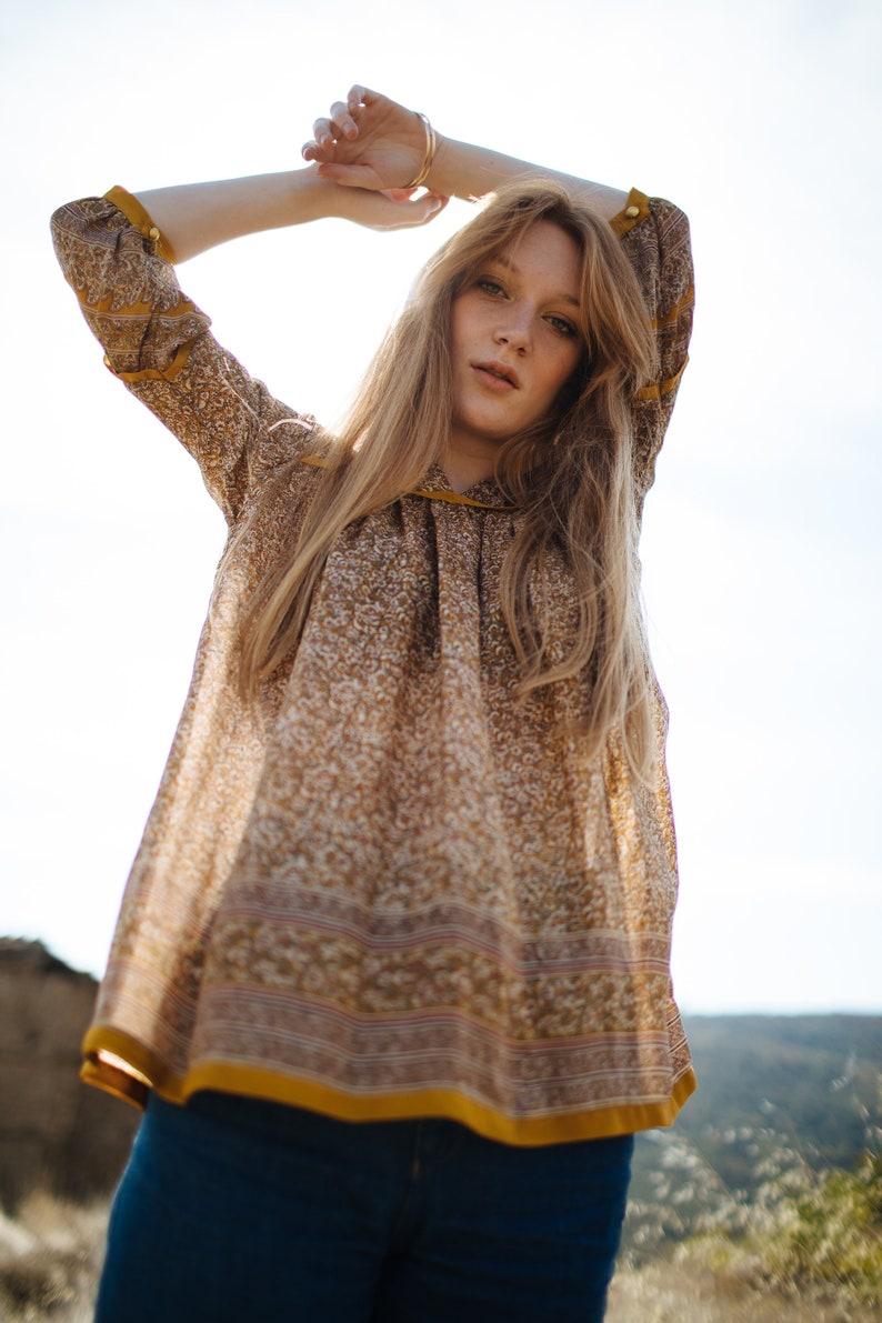eba89f00e38f BOHEMIAN BLOUSE Indian blouse Boho blouse Hippie blouse Floral
