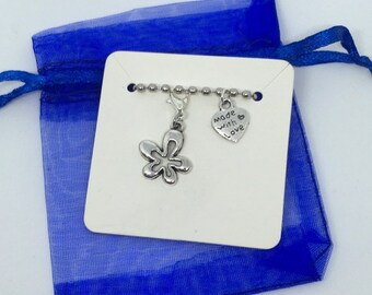 Junk Journal Gift Planner Charm Unique Gift Ideas Stitch Marker Bag Charm Iridescent Resin Clip on Charm Pendant