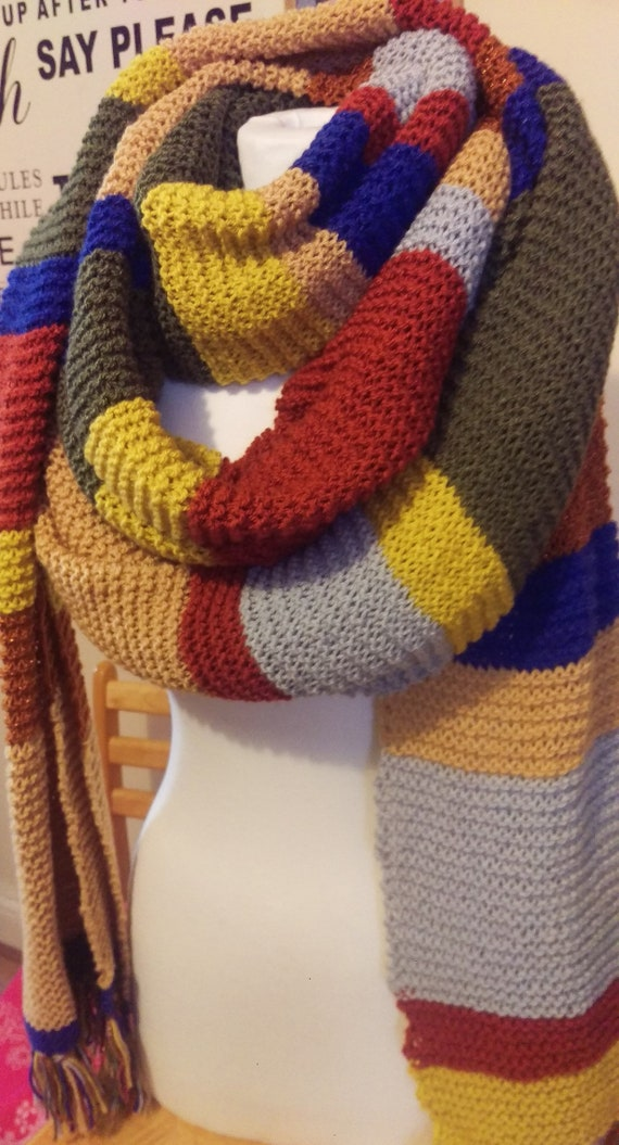 Doctor Who Scarf 4th Doctor Tom Baker Made From Official Bbc Etsy