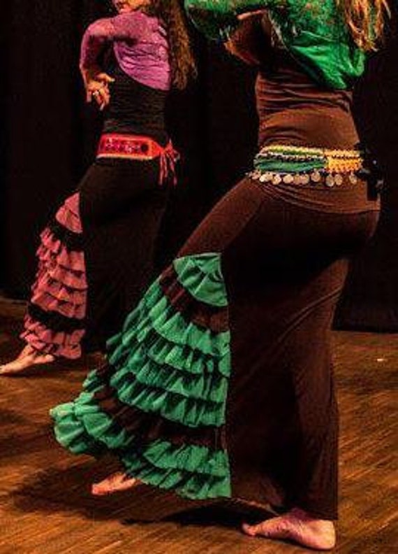 lateral ruffles triangle Flamenco Skirt 11
