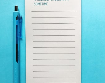 Things I Should Do Magnetic Notepad