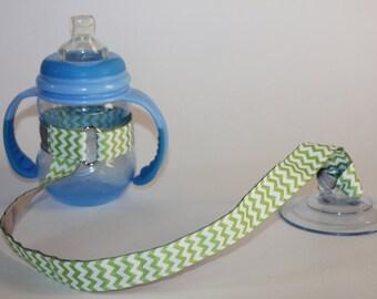 0833e548aa58f Green Chevron Sippy Cup Leash