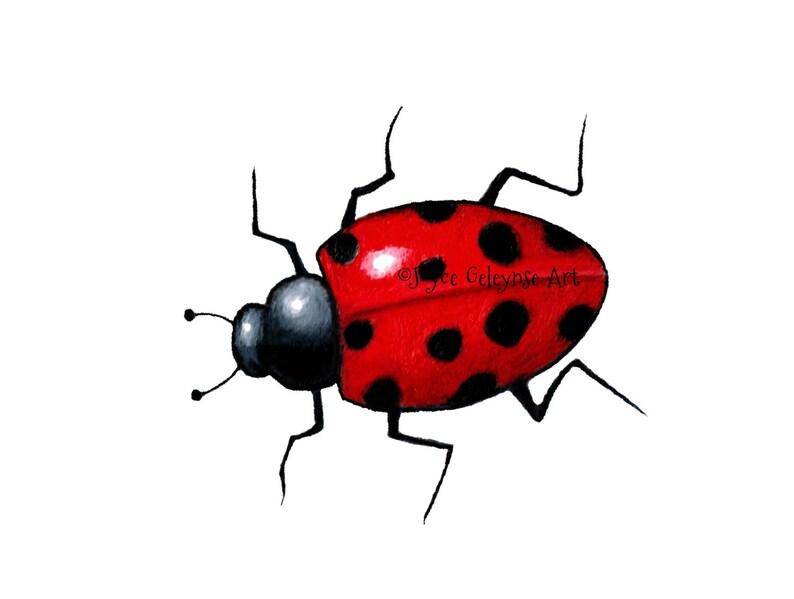 c224d3e9006d Printable Clip Art Realistic Ladybug Ladybird: Temporary | Etsy