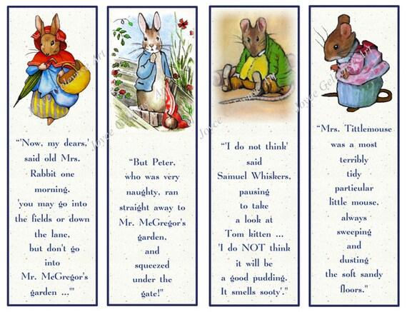 Favoritos de los niños para imprimir: Personajes de Beatrix | Etsy