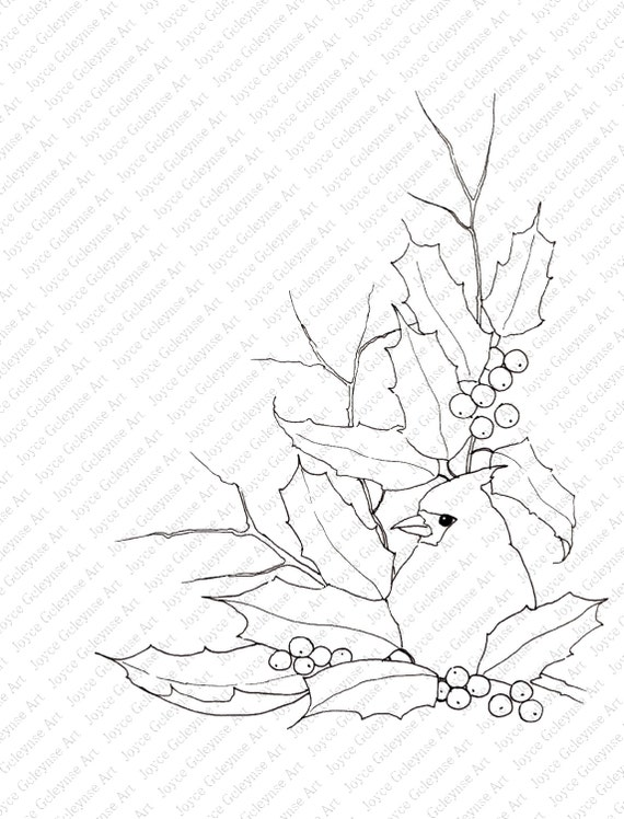 Estampilla de Navidad arte sello de vacaciones para colorear | Etsy
