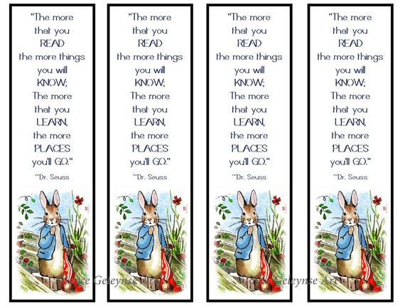 image about Dr Seuss Printable Bookmarks named Printable Young children Bookmarks, Peter Rabbit, Initial Artwork Immediately after Beatrix Potter, Small children Get together Prefer Notion, Instantaneous Dowload, Offers Dr. Seuss