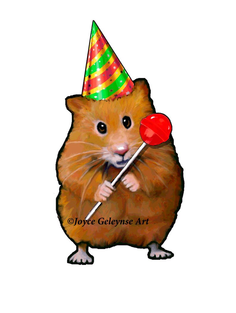 Clip Art Freehand Drawing Cute Hamster Holding A Lollipop And Etsy