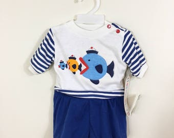 0332bf7cc Newborn sailor suit