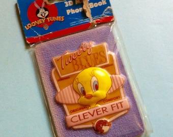 Tweety Magnetic Phone Book. Looney Tunes Stationery. Warner Bros. 3D Phone Book. Tweety Blues. Paper Supplies. Cartoons.