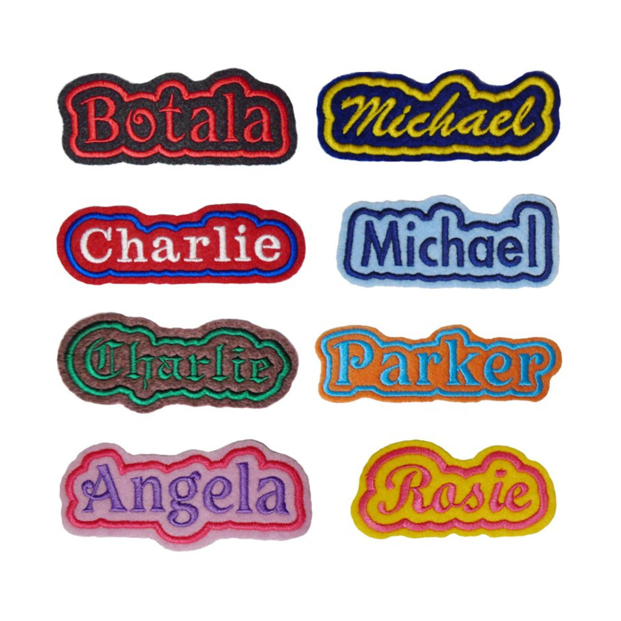 Custom Embroidered Name Patch Felt Iron On Sew Felt Patches With
