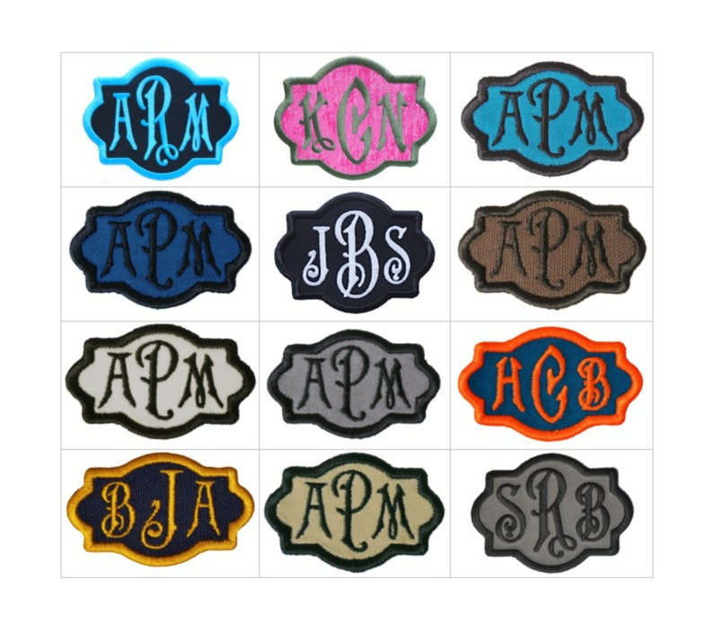 Customize Embroidered Carson Font Name Initial Monogram Iron image 0