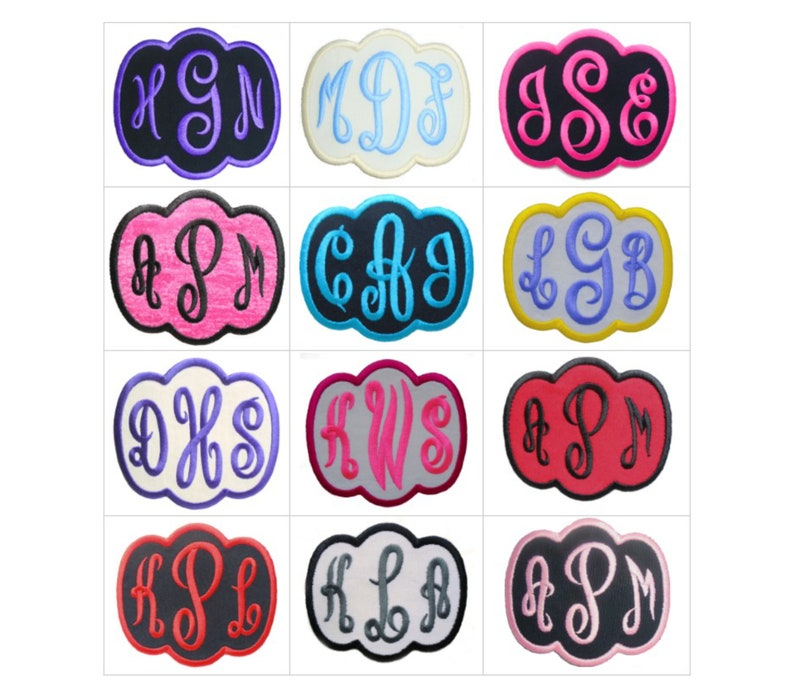 Customize Embroidered Empress Font Name Initial Monogram Iron image 0