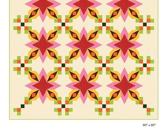 Cactus Flower Quilt Pattern