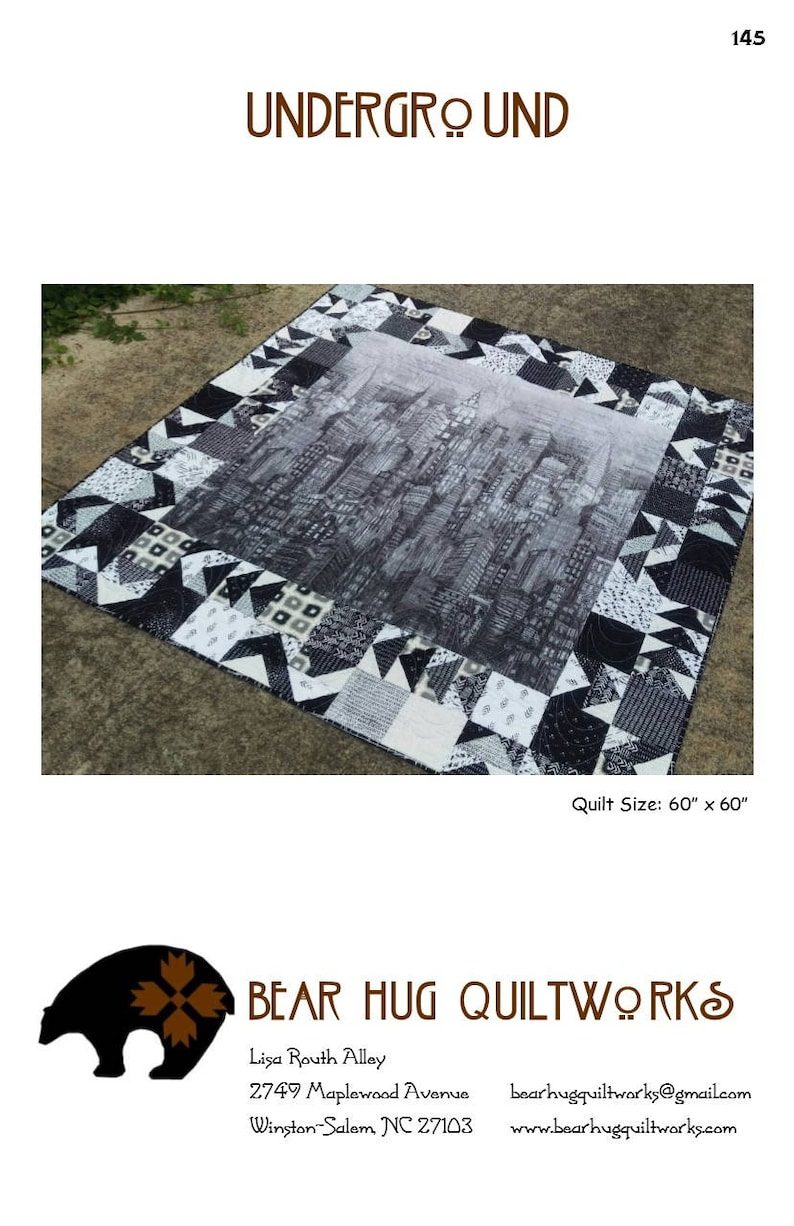 Underground Quilt Pattern image 0