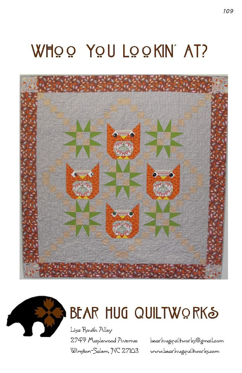 Whoo You Lookin' At Quilt Pattern image 0