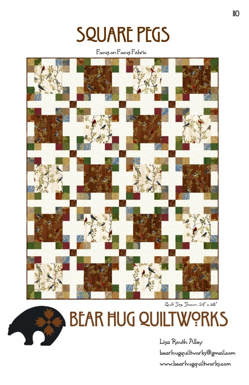 Square Pegs Quilt Pattern image 0