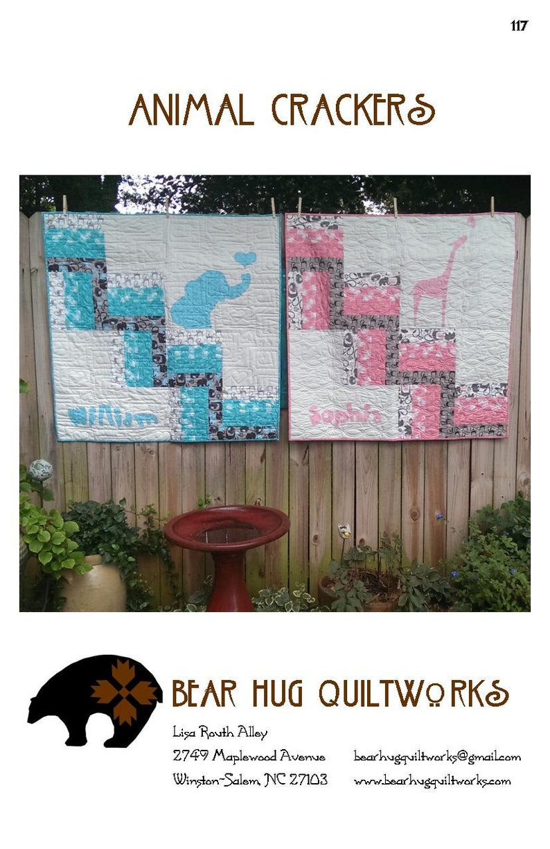 Animal Crackers Baby Quilt Pattern image 0
