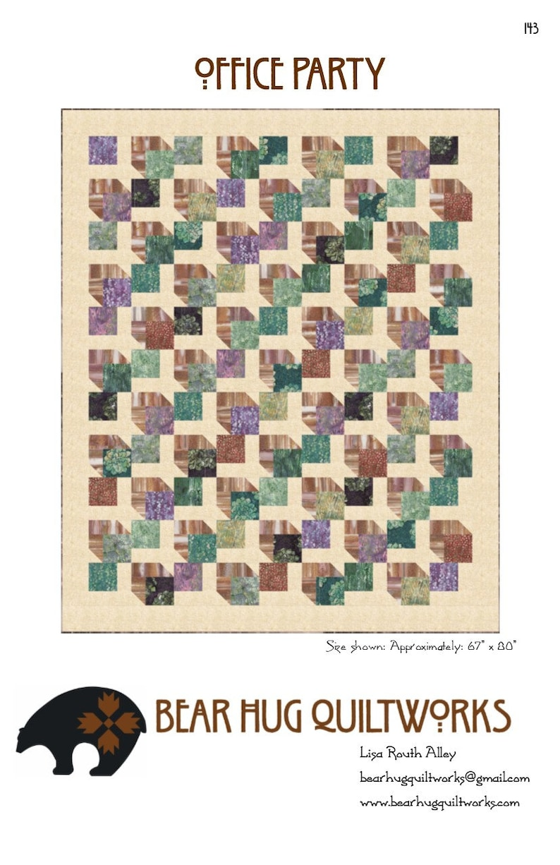Office Party Quilt Pattern image 0