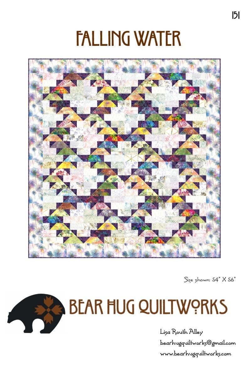 Falling Water Quilt Pattern image 0