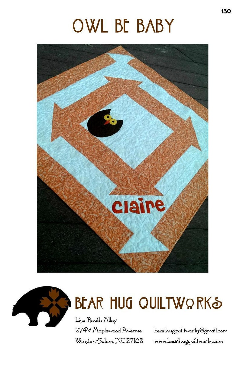 Owl Be Baby Quilt Pattern image 0