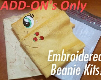 Add-ons for DIY Embroidered Beanie Plush Kit - Mare/Stallion Pony, Unicorn, & Pegasus - Craft