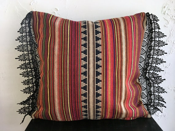 Modern Spanish Style Pillow Cover Eclectic 18x18 Decorative Etsy