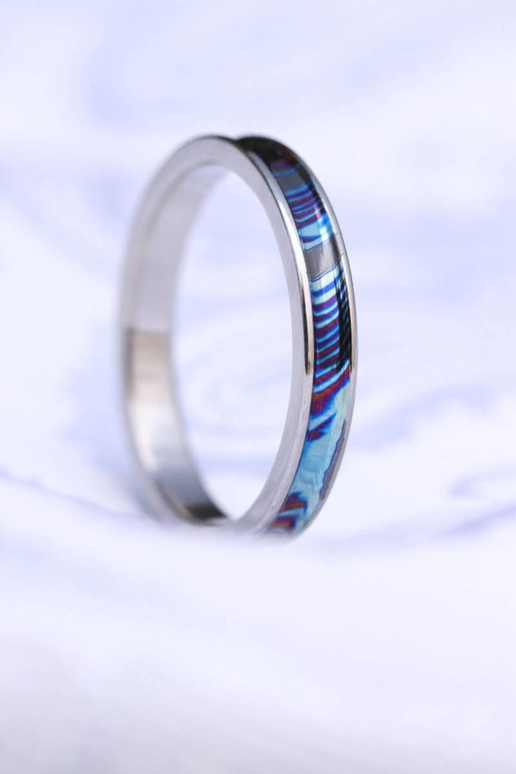 Channel ring, Timascus, zrti ring, caged ring, engagement ring, womens ring