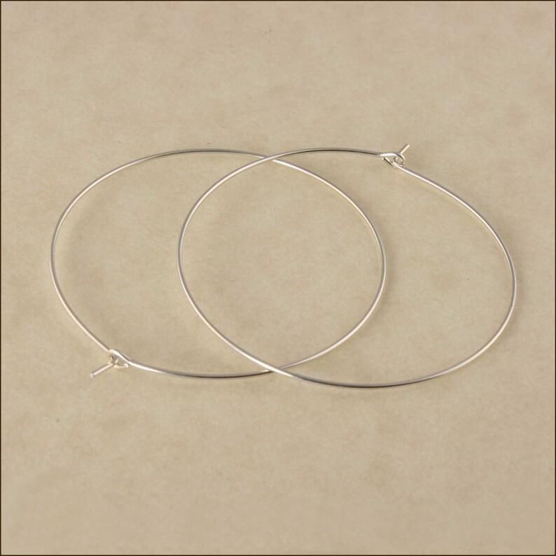 Hoop Earrings  1-1/2 40mm Silver Hoop Earrings  image 0