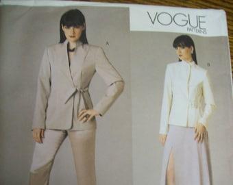 3d55f14666d9f5 Vogue Muster V2780 / Vogue 2780 Größe 8 10 12 NY Die Sammlung Misses Jacke,  Rock & Hose / 2003 Hochzeit Gast Mutter der Braut / ungeschnitten