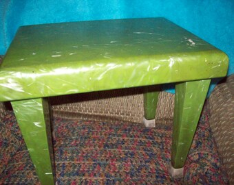 Vintage Retro Stool or Small Table/1960's/ Faux Marble