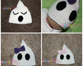 4c503439dbb Crochet Ghost Hat - Halloween Hat - Cute Spooky Ghost Hat - Newborn Photo  Prop - Baby Ghost Hat - Halloween Costume - Child Ghost Hat