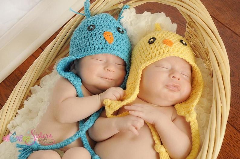 ef559c1db1e Crochet Baby Bird Hat Baby Chick hat Newborn Photo Prop