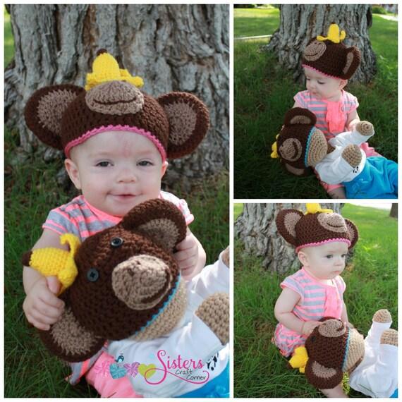 Häkeln Sie Monkey Hut chaotisch Monkey Hut Neugeborene | Etsy