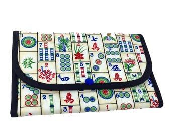 "Tri-Fold ""Mahjong!"" Cosmetic/Accessory Bag"