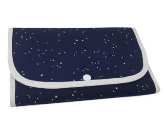 "Tri-Fold ""Moonlit Fox"" Cosmetic/Accessory Bag"
